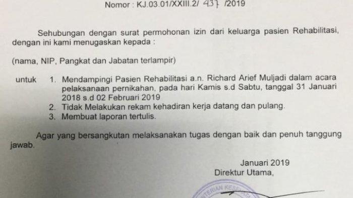 RSKO Tegaskan Izin Nikah untuk Richard Muljadi Sesuai Prosedur