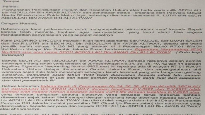 Jadi Tersangka Kasus yang Sudah Dihentikan, Lutfi Kirim Surat Terbuka