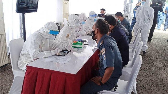 350 Pegawai KPLP Jalani Swab Test yang Digelar Badan Intelijen Negara