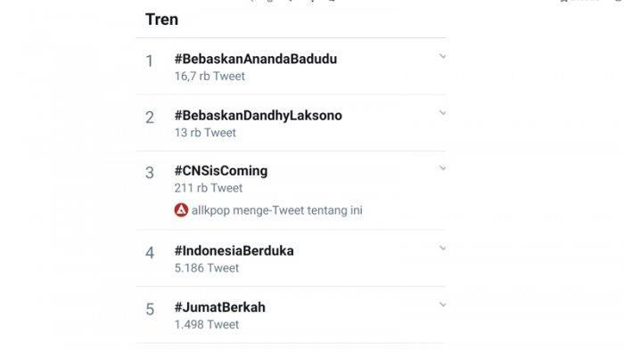 Tagar Bebaskan Ananda Badudu dan Bebaskan Dandhy Laksono Jadi Trending Topic Twitter