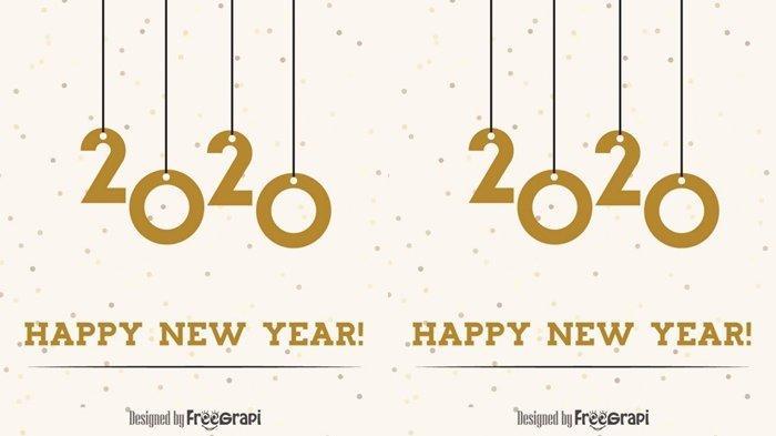 Sederet Ucapan Selamat Tahun Baru 2020 Pakai Bahasa Indonesia dan Bahasa Inggris