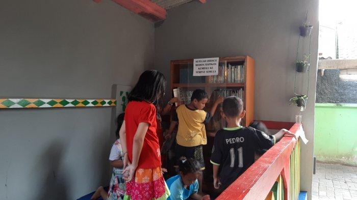 Taman Bacaan Berkonsep Saung Kini Hadir di Kelurahan Pinang Ranti