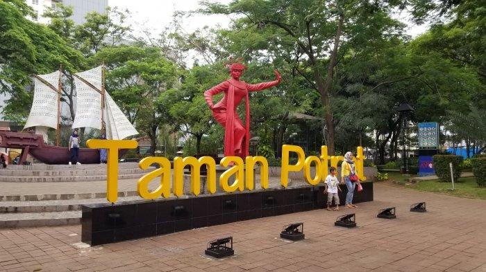 Serunya Main di Taman Potret di Tengah Hiruk Pikuk Tangerang, Ada Wifi dan Patung Instagramable