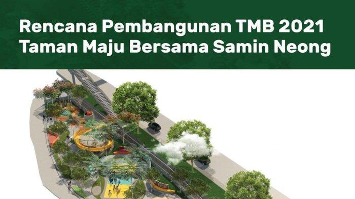 Taman Samin Neong di Susukan Ciracas Jakarta Timur