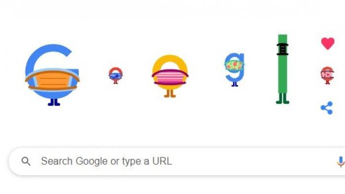 Tampilan Google Doodle Hari Ini Memakai Masker untuk Pencegahan Covid-19, Info Sekolah Tatap Muka