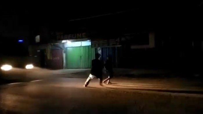 Tangkapan gambar video kecelakaan maut di Jalan Cisauk-Suradita, Cisauk, Kabupaten Tangerang, Rabu (4/8/2021).