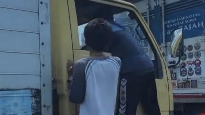 Video Viral Pemalakan Sopir Truk di Cakung, 2 Pelaku Berhasil Ditangkap