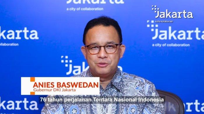 Tangkapan layar dalam video yang diunggah di instagram Gubernur DKI Jakarta Anies Baswedan