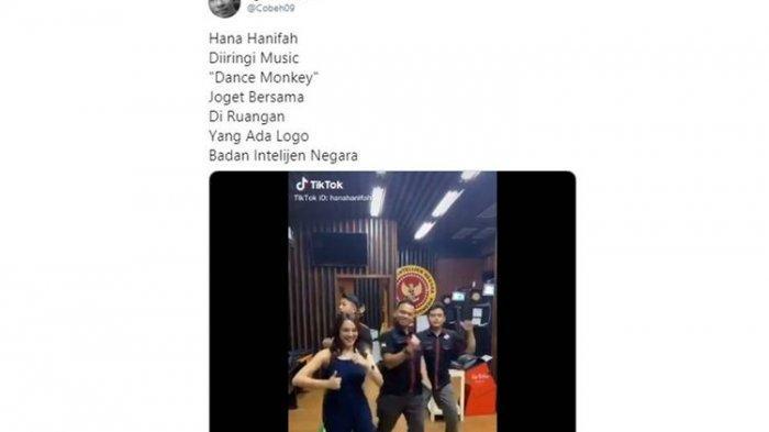Artis FTV Hana Hanifah Goyang TikTok di Kantor BIN Viral di Media Sosial: Kami Tidak Mengundang