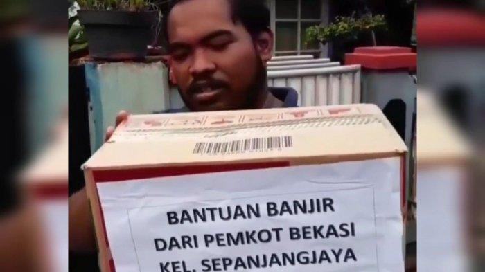 Viral Video Bantuan Korban Banjir Sedus Mi Instan Buat 1 RT di Bekasi, Ini Respon Wakil Wali Kota