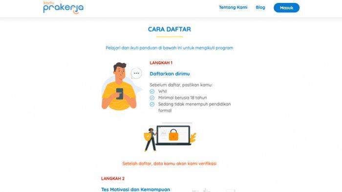Pendaftaran Kartu Prakerja Gelombang 12 di www.prakerja.go.id Dibuka, Tips Tak Gagal Unggah Foto KTP