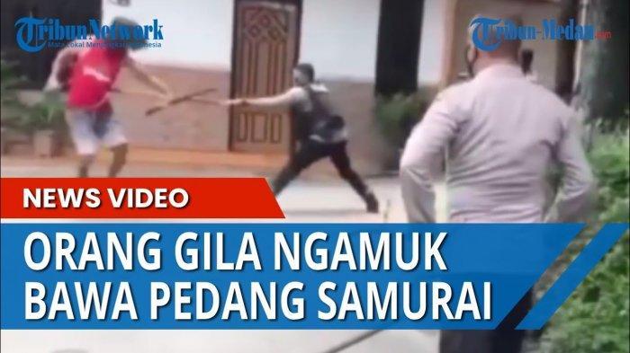 Pria Mengaku Tidak Mempan Ditembak Mengamuk Bawa Pedang, Polisi Sampai Kewalahan