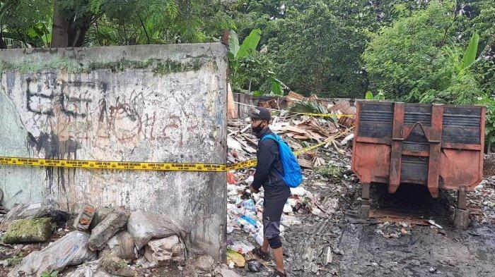TKP kedua penemuan potongan tubuh manusia berupa tangan sebelah kiri di sebuah tempat pembuangan sampah, Kayuringin Bekasi.