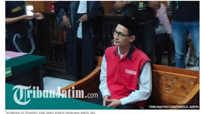 Divonis 10 Bulan Penjara Setelah Cabuli 5 Muridnya, Mantan Kepala SMP di Surabaya Ucapkan Ini