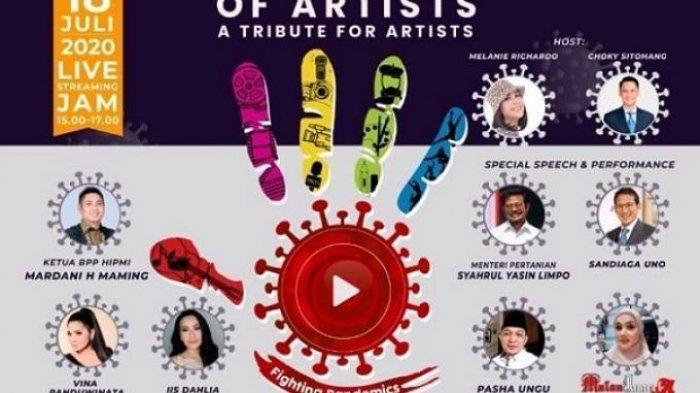 Galang Donasi Untuk Pekerja Seni Terdampak Pandemi Covid-19 Melalui Live Konser The Story of Artist