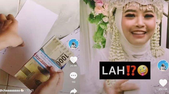 Viral di Medsos Aksi Prank Teman Kuliahnya Menikah Berikan Amplop Isi Uang Dua Gepok Rp 1 Ribu