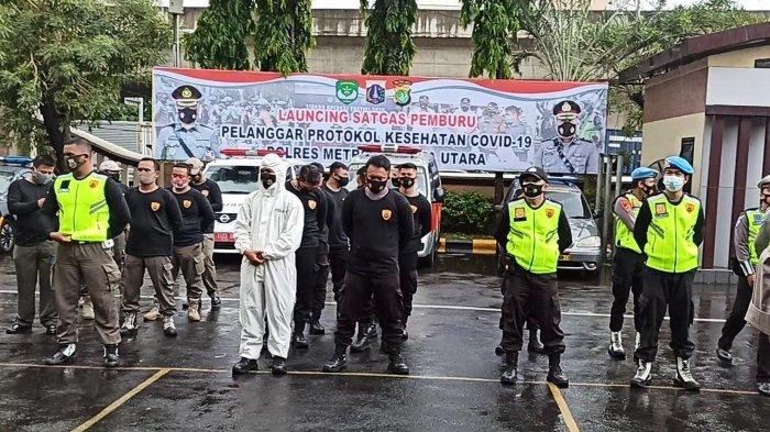 Diharapkan Jadi Zona Hijau, Polres Metro Jakut Bersama TNI dan Pemkot Bentuk Tim Pemburu Covid-19