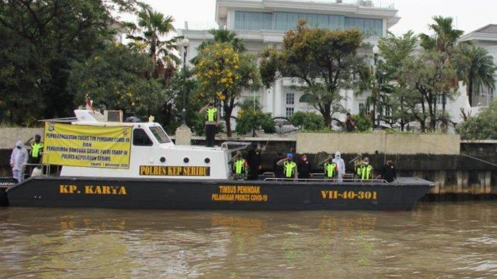 Tim Pemburu Covid-19 Polres Kepulauan Seribu Diberangkatkan ke Pulau Permukiman