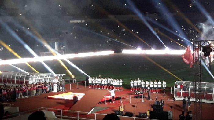 Meski Baru Sehari Menikah, Evan Dimas Tetap Datang ke Launching Tim Persija Jakarta di SUGBK