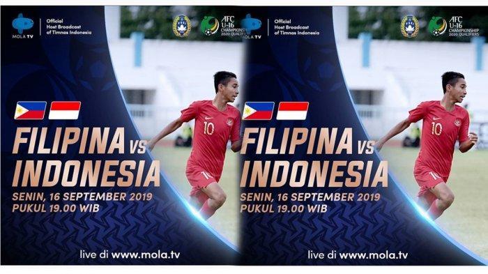 Live Streaming Pertandingan Timnas Indonesia U-16 vs Filipina Malam Ini, Kualifikasi Piala AFC 2020