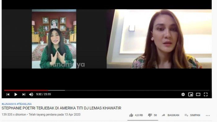 Titi DJ Curhat Soal Stephanie ke Amerika Saat Masa Pandemi, Luna Maya Tercengang: Oh My God, Gila!