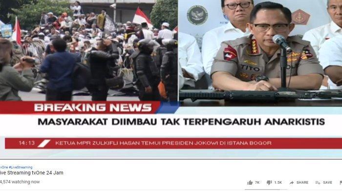 Tanggapi 6 Orang yang Tewas dalam Aksi Massa 22 Mei, Tito Karnavian: Ada Kelompok yang Bermain