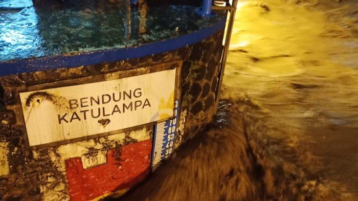 Bogor Diguyur Hujan Sejak Sore, Tinggi Muka Air Bendung Katulampa Berstatus Siaga I