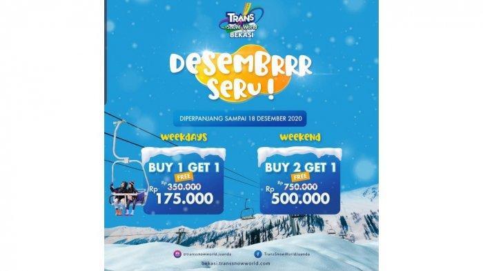 Deretan Promo Tempat Wisata Akhir Tahun, Flash Sale di Dufan-Buy 2 Get 1 di Trans Snow World Bekasi