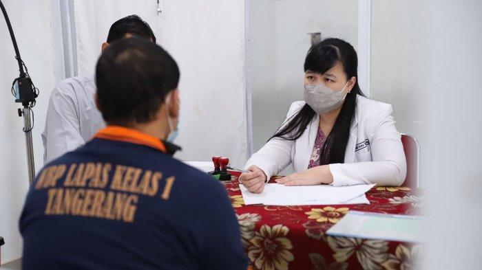 Dinas Kesehatan (Dinkes) Kota Tangerang menggelar trauma healing untuk para narapidana di Lapas Kelas 1 Tangerang, Jumat (17/9/2021).