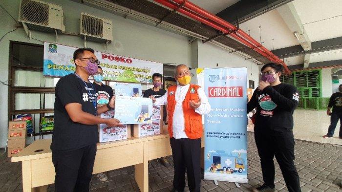 16.000 Donasi Masker Kain Non Medis Disebar Tribunnews.com dan Cardinal di Bodetabek