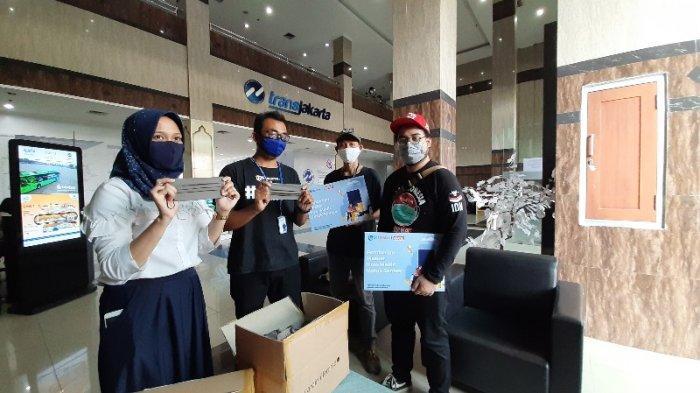 Cardinal Bersama Tribunnews Serahkan Bantuan Masker ke PT Transjakarta: Bantu Petugas Cegah Covid-19