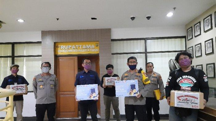 Polres Jakarta Timur Terima 1500 Bantuan Masker Kain dari Tribunnews dan Cardinal