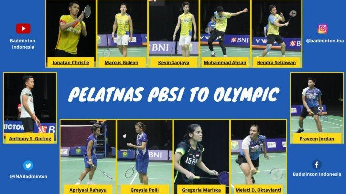 Berikut Daftar Lengkap 7 Wakil Indonesia Cabor Bulu Tangkis Fase Grup Olimpiade Tokyo 2020