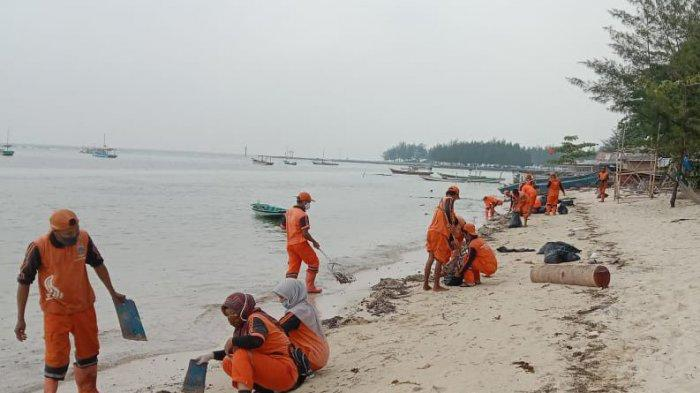 Tumpahan Minyak Cemari Pulau Pari, 380 Karung Limbah Minyak Diangkut