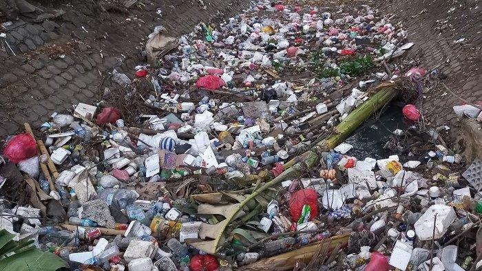 Penampakan Sampah Plastik hingga Batang Pohong Pisang Menumpuk Dekat Rumah Wakil Wali Kota Tangerang