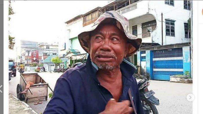 Viral Video Pemuda Jambret Tas Milik Pengemis Tua, Kakek Makmur Nangis: Uang untuk Beli Kain Kafan