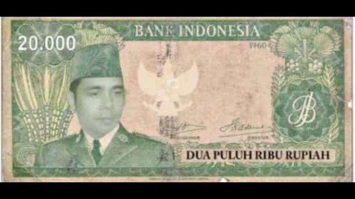 Uang buatan Paguyuban Tunggal Rahayu. Foto di uang itu disebut-sebut adalah Prof Dr Ir H Cakraningrat SH alias Sutarman.