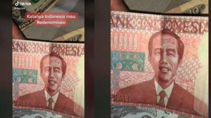 Uang Redenominasi Bergambar Jokowi Viral di Media Sosial, Bank Indonesia: Berhati-hatilah