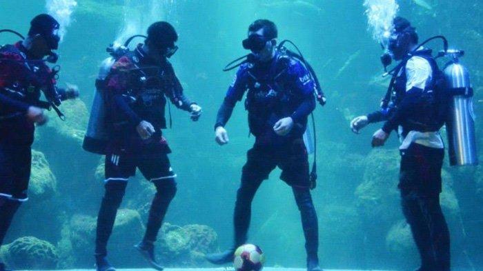 Ternyata Berat Keseluruhan Kostum yang Dipakai Penyelam di Seaworld Ancol Sampai 27 Kilogram