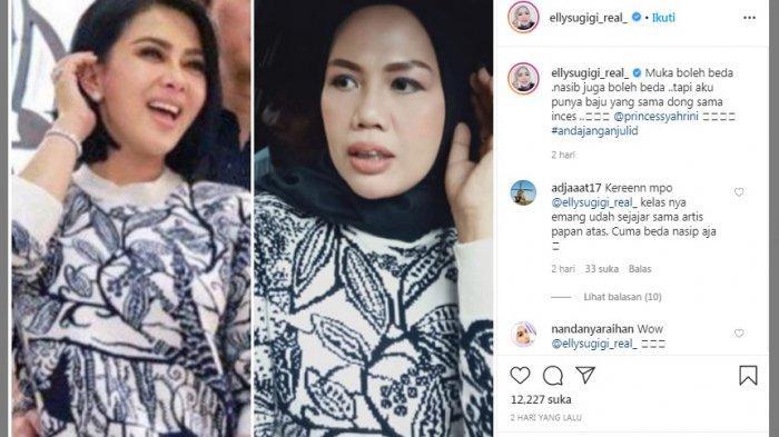 Takut Dilaporkan Karena Baju KW-nya Mirip Syahrini, Elly Sugigi: Habis ini Dia Bakar Bajunya Kali Ya