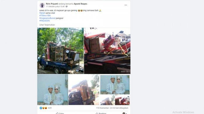 Unggahan pemilik Facebook Ririn Priyanti.
