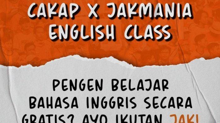 Mau Ngobrol Sama Bintang Asing Persija Terhalang Bahasa? Jakmania Buka Kursus Bahasa Inggris Gratis