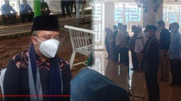 Ustaz Yusuf Mansur pimpin salatkan jenazah Ustaz Maaher At-Thuwailibi.