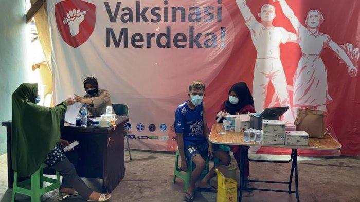 642 Orang Ikuti Vaksinasi Merdeka Hari Pertama di Lingkungan Polres Pelabuhan Tanjung Priok