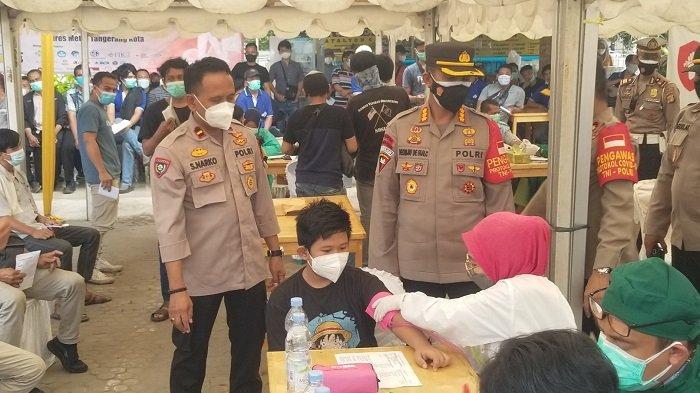 Polres Tangerang Gelar Vaksin Merdeka Setiap Hari, Serentak Dilaksanakan di 24 Titik