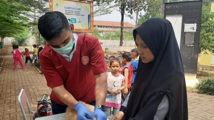 65 Hewan Peliharaan di Cipayung Diberikan Vaksin Rabies Gratis dari Sudin KPKP Jakarta Timur