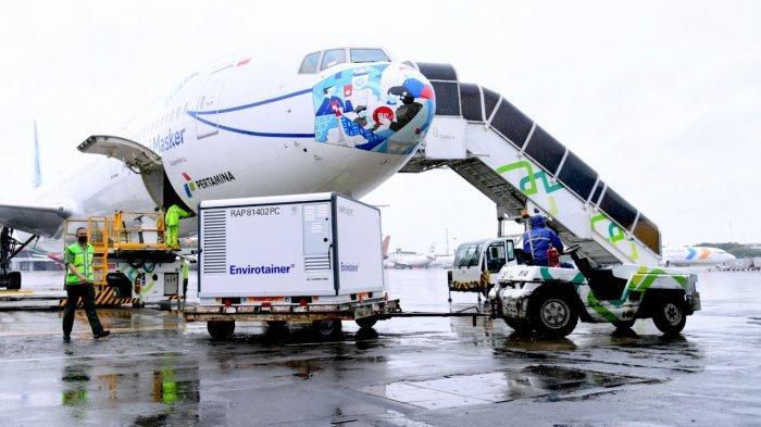 1,8 Juta Vaksin Covid-19 Tahap Kedua Berhasil Mendarat di Bandara Soekarno-Hatta