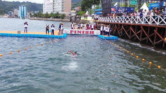 Venue pertandingan selam laut dan renang perairan terbuka di Teluk Yos Sudarso, Dok 2, Kota Jayapura.