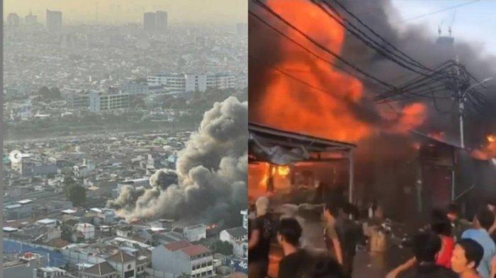 Kebakaran Dahsyat di Pasar Kambing Tanah Abang, Masyarakat Gotong Royong Padamkan Api: Astagfirullah