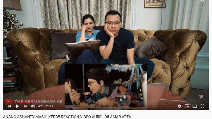 Video Reaction Anang Hermansyah dan Ashanty saat menyaksikan Aurel dilamar Atta di atas kapal.